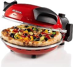 Ariete 909 Four à Pizza, 400Degrés, Cuit une Pizza en 4 minutes, Plaque en Pierre Réfractaire de 33cm de Diamètre, 1200...