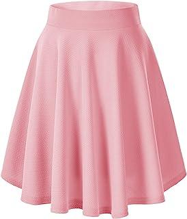 Urban GoCo Falda Mujer Elástica Plisada Básica Patinador Multifuncional Corto Falda