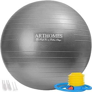 ARTHOMES Exercise Ball, (55cm 65cm) Anti-Burst and Slip...