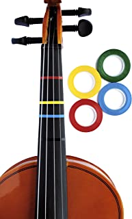 4 Jumbo Color Violin Fingering Tape for Fretboard Note Positions