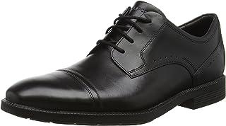 ROCKPORT Men's Dressports Formal Modern Cap Toe Uniform Dress Shoes, Black