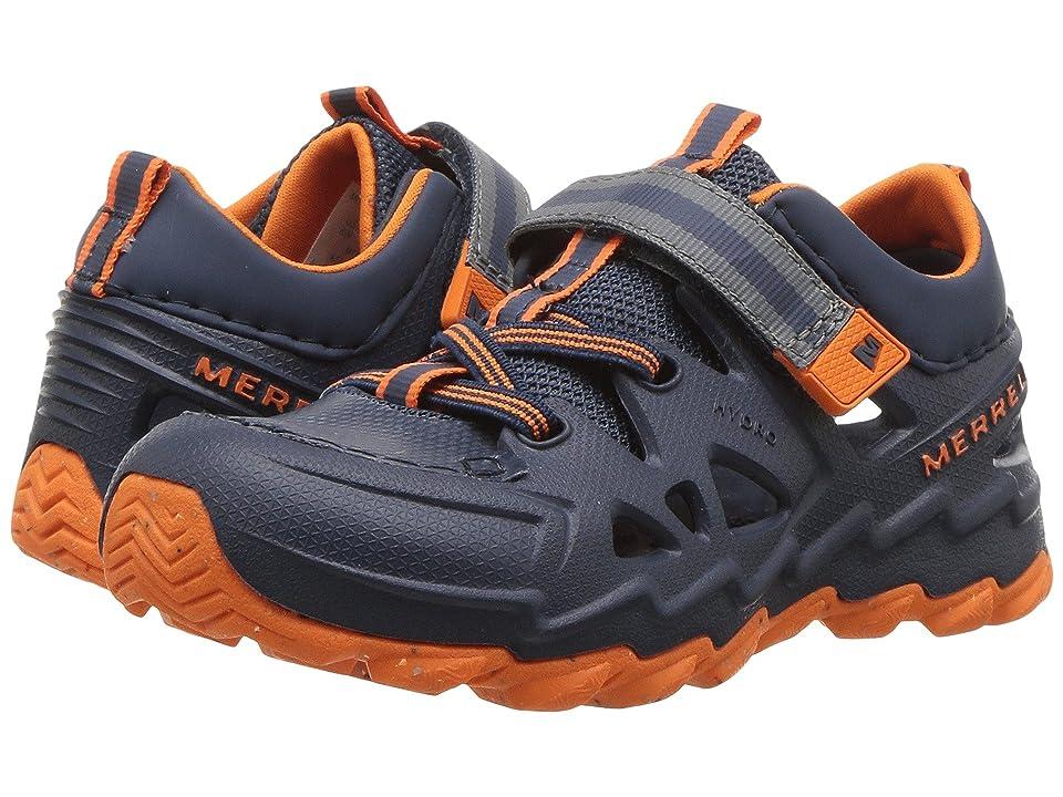 Merrell Kids Hydro Junior 2.0 (Toddler) (Navy/Orange) Boys Shoes