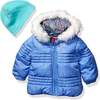 Baby Girls Puffer Jacket with Scarf & Hat