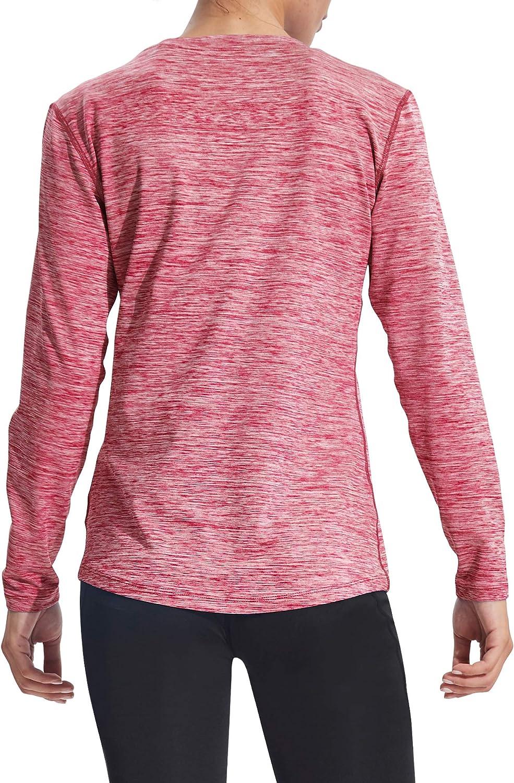 Neleus Womens Dry Fit Workout Running Long Sleeve Shirt