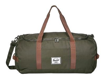 Herschel Supply Co. Sutton (Dark Olive/Saddle Brown) Duffel Bags