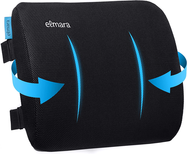 Elmara Lumbar Support Pillow for Back Office S overseas Houston Mall Chair Desk