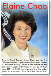 Elaine Chao - Asian American Secretary Of Labor - NEW Famous Person Motivational Classroom Poster
