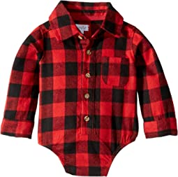Buffalo Check Button Down One-Piece Crawler (Infant)