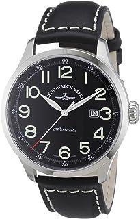 Zeno Watch Basel - 6569-a1 - Reloj analógico automático para Hombre con Correa de Piel, Color Negro