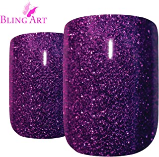 purple gel nail art