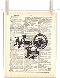 The Addams Family 8.5 x 11 Vintage Dictionary Page Unframed Art Print