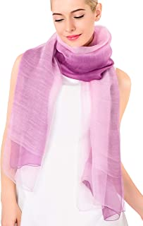 ADVANOVA Silk Wool Scarf for Women, Evening Wraps for Prom, Gift Box