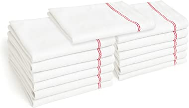 Liliane Collection Red Dish (13 Pack) -Commercial Grade Absorbent 100% 2-ply Cotton Kitchen (14