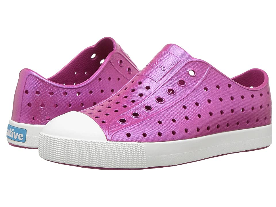 Native Kids Shoes Jefferson Iridescent (Little Kid) (Resort Pink/Shell White/Galaxy) Girls Shoes