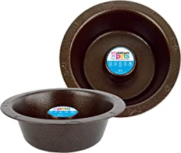 Platinum Pets SwitchIn Slow Eating Stainless Steel Wide Rimmed Dog/Cat Bowl 50 oz, Copper Vein