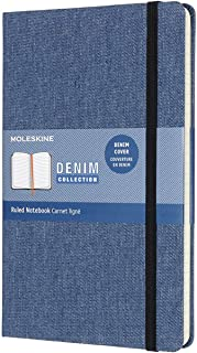 Moleskine Limited Collection Denim Notebook, Hard Cover, Large (5
