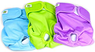 Pet Magasin Reusable Washable Dog Diapers (Pack of 3), Highly Absorbent with Strong & Flexible Velco