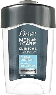 Dove Men+Care Clinical Antiperspirant Deodorant Stick, Clean Comfort, 1.7 oz