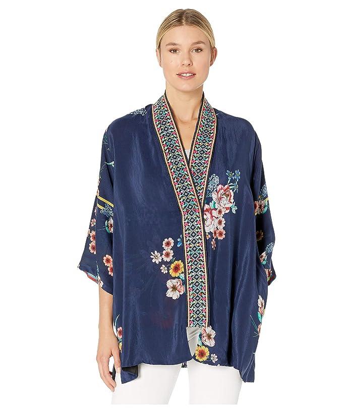 1920s Shawls, Wraps, Scarves, Fur Stole Johnny Was Maci Kimono Multi A Womens Clothing $189.00 AT vintagedancer.com