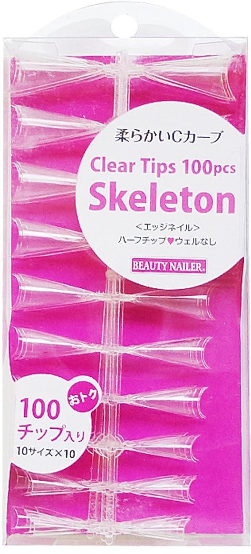 血まみれアグネスグレイセッションBEAUTY NAILER クリアチップス100pcs スケルトン(SKE-1)