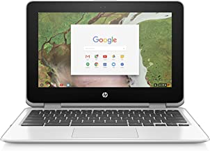 "HP 11-ae051wm 11.6"" X360 Touchscreen Chromebook - Intel Celeron N3350 1.1GHz 4GB RAM 64GB eMMC Snow White (Renewed)"