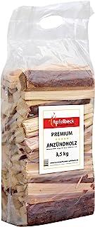Premium astillas Pino 3,5kg–18–20cm–Ideal para chimenea, horno de leña, barbacoa y fuego rígida–En Seco–con una práctica asa