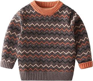 LUCSUN Suéter de los niños, Bebé de la Felpa de Color de Coincidencia de Manga Larga Jersey de Cuello Bajo Bebé Niño Niña ...