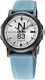 Nautica Men's Quartz Silicone Strap, Blue, 20 Casual Watch (Model: NAPEPS105)