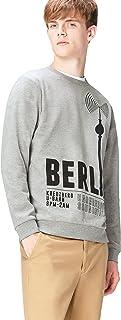 Amazon Brand - find. Men's Berlin Print Crew Neck Sweatshirt