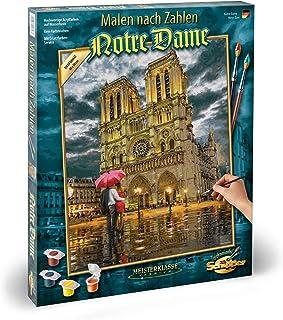 Simba - Schipper - Notre Dame - Kit de Peinture par Numéros - Acrylique - Toile 40x50cm - Structure en Lin - 609130817