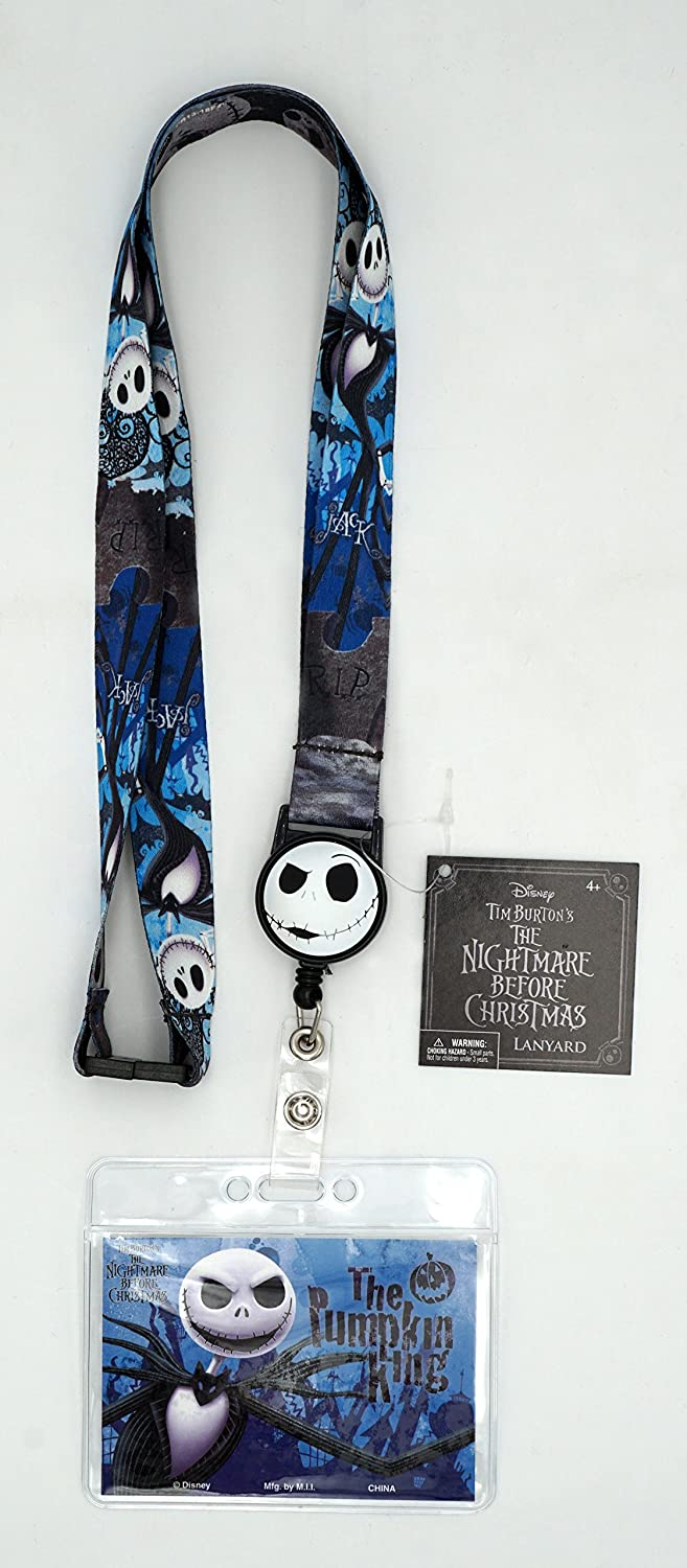 Jack Skellington Lanyard with Card Seattle Mall Zip Limited price Lock Holder