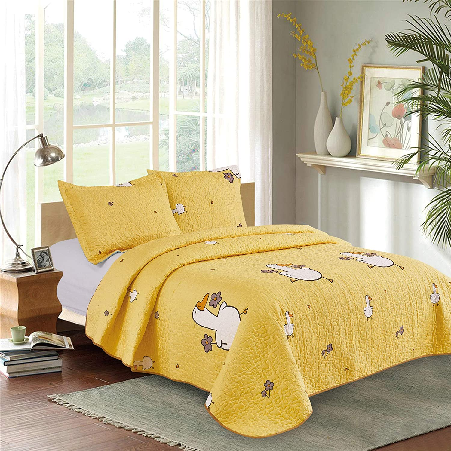 NEAT HOME All Season Bed Cover Set-2 Piec Pattern Be Oklahoma City Mall super welcome Duck Quilt