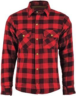 BULLDT Camisa de motorista para hombre, aspecto de leñador, talla 60/4XL, color rojo