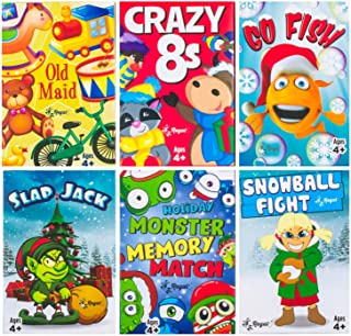Regal Games Holiday Kids Card Games Edition Including Old Maid, Go Fish, Slapjack, Crazy 8's, Snowball Fight, Holiday Mons...