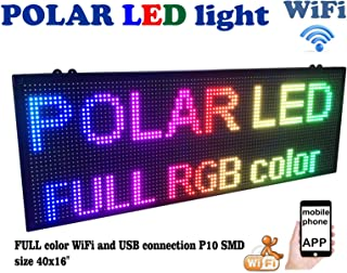 Outdoor WiFi P10 Resolution, Full LED RGB Color Sign 40