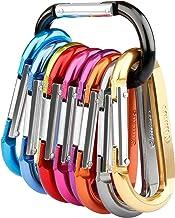 Gimars 10 Stück gefederter Verschluss Karabiner, Schlüssel
