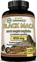 Organic Black Maca 950 mg Natural Energy Booster Peruvian Maca for Men & Women 120 Capsules