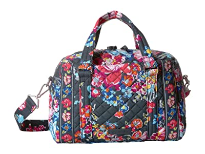 Vera Bradley Iconic 100 Handbag (Pretty Posies) Satchel Handbags