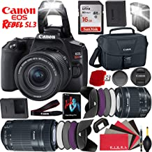 $948 » Canon EOS Rebel SL3 DSLR Camera (Black) with 18-55mm Lens and 55-250mm Lens - 24.1 MegaPixels - 4K Video - Bundle