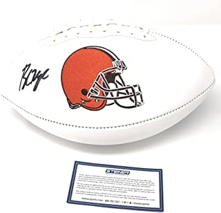 Baker Mayfield Cleveland Browns Signed Autograph Embroidered Logo Football Steiner Sports Certified