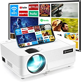 "VANKYO Leisure 470 Mini WiFi Projector w/ 100 Inch Projection Screen, Full HD 1080P & 250"" Display Supported, 2021 Upgrade..."