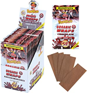Honeypuff Hemp Wraps of Chocolate Flavored, 50 Packs of 5 Rolling Papers Herbaceous Fibers King Size (110mm)