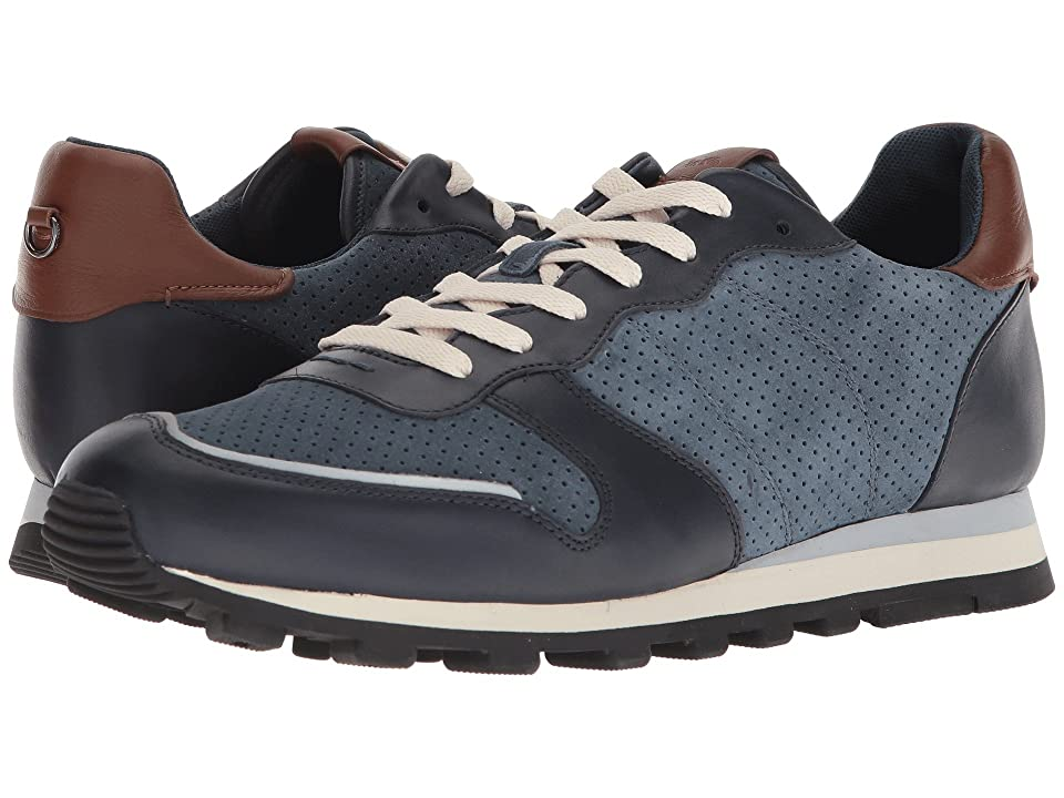 Mens Vintage Style Shoes & Boots| Retro Classic Shoes COACH C118 Perforated Runner Dusk Midnight Navy Mens Shoes $250.00 AT vintagedancer.com