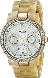 XOXO Womens Quartz Watch, Analog Display and Plastic Strap XO5521