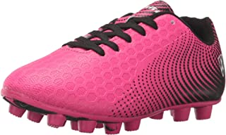 pink and green soccer cleats