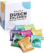 WALTZ7 Original Duschbomben Set, 16 Stück mit 8 Düften, Aromatherapie mit natürlichen ätherischen Ölen, Wellness Geschenkbox, Dankeschön Geschenk Frauen, Adventskalender Füllung, Weihnachtsgeschenk