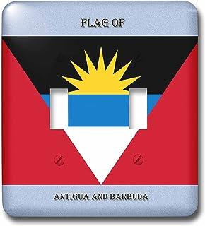 3dRose Lsp_210391_2 - Interruptor doble con bandera de Antigua y Barbuda