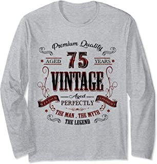 75th birthday gift idea for Vintage 75 years old party Long Sleeve T-Shirt