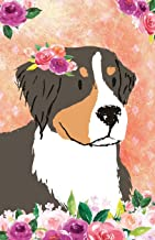 Journal Notebook For Dog Lovers Bernese Mountain Dog In Flowers: Blank Journal To Write In, Unlined For Journaling, Writing, Planning and Doodling, ... Size (Journal Notebook Plain 2) (Volume 5)