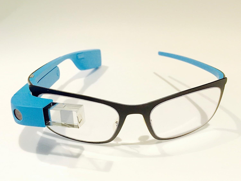 Google Glass Explorer Edition XE-C 2.0 with Frames RX Rocker Style Bundle Package (Sky Blue)